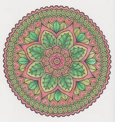 Magical Mandalas 006 done with pencils Mandala Pattern, Mandala Design, Mandala Art, Adult Coloring, Coloring Pages, Colouring, Creative Haven Coloring Books, Sacred Symbols, Doodle Inspiration
