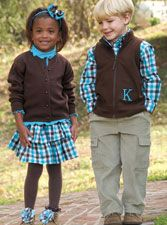 I LOVE matching outfits for boys and girls...
