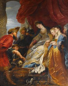 Rubens, Thomyris, Queen of Sicily, Plunging Head of Cyrus into Vase of Blood, 1620-1625