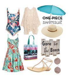 """Beach"" by amaliakumala ❤ liked on Polyvore featuring We Are Handsome, MANGO, Louche, Melissa Odabash, Aéropostale, Sunday Somewhere, Pelle Moda and cutoutswimsuit"