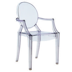 The classic #ghostchair. Anyone have sources for what this might actually look like around a dining table?