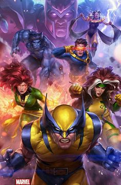 Marvel Future Fight Key-Art Illustration for X-men, JeeHyung lee Comic Book Characters, Comic Book Heroes, Marvel Characters, Comic Books Art, Comic Art, Marvel Dc Comics, Marvel Xmen, Marvel Heroes, Art And Illustration