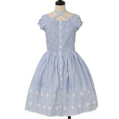♡ Emily Temple cute ♡ Flower Embroidery Border Dress http://www.wunderwelt.jp/products/detail12010.html ☆ ·.. · ° ☆ How to order ☆ ·.. · ° ☆ http://www.wunderwelt.jp/user_data/shoppingguide-eng ☆ ·.. · ☆ Japanese Vintage Lolita clothing shop Wunderwelt ☆ ·.. · ☆