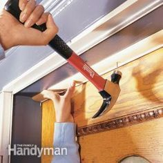 Installing Weather Stripping & Door Sweeps - - Stop energy-wasting air leaks around entry doors by installing a weatherstripping kit with a foam flange or vinyl bulb. Use a door sweep to seal the bottom of the door. Home Improvement Projects, Home Projects, Home Renovation, Home Remodeling, Kitchen Remodeling, The Family Handyman, Door Weather Stripping, Door Stripping, Home Fix
