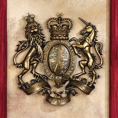 Basil Street Gallery Royal Coat of Arms of Great Britain Wall Sculpture
