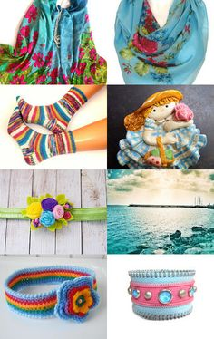 Turquoise fashion  by Nathalie on Etsy--Pinned with TreasuryPin.com