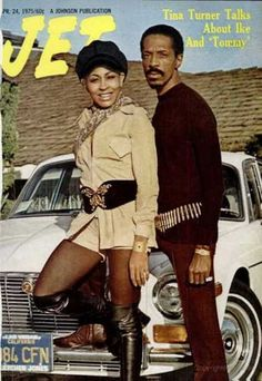 Ike and Tina Turner on the cover of Jet, April 1975. hat