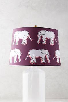 Elephant Lampshade by Luke Edward Hall