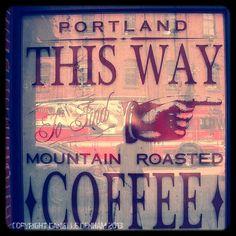Coffee Photo Portland Oregon Window by ThePDXPhotographer on Etsy, $25.00