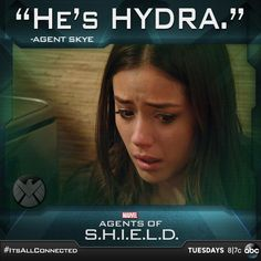 What will happen now that Skye knows the truth about Ward? #AgentsofSHIELD #ItsAllConnected