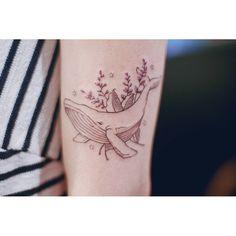 """6,432 Likes, 93 Comments - 타투이스트서언(tattooistseoeon) (@seoeontattoo) on Instagram: """"그윽한 눈매의 그는 예쁜그녀와 함께 떠났지요. . . .  #여자타투이스트 #여성타투이스트 #타투 #타투서언 #서언타투 #라인타투 #디자인타투 #고래타투 #꽃타투 #빈티지타투…"""""""