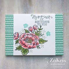 Stampin' Up! - Birthday Blooms, Birthday Bouquet DSP - ZoKris