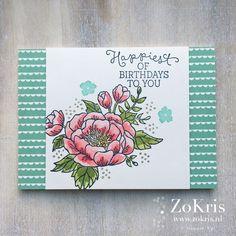 Stampin' Up! - Birthday Blooms, Birthday Bouquet DSP - ZoKris