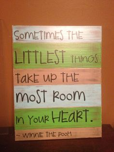 Wooden Sign Quote Littlest Things by jreasondesigns on Etsy