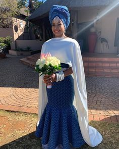 Image may contain: one or more people Wedding Dresses South Africa, African Wedding Attire, African Attire, African Fashion Dresses, African Dress, African Weddings, Setswana Traditional Dresses, African Traditional Wedding Dress, Traditional Wedding Attire