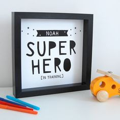 Amazing Personalised Super Hero Print - best gifts for boys