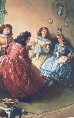 Little Women by Louisa May Alcott / Beautiful vintage book art illustration / Classic Children's Books