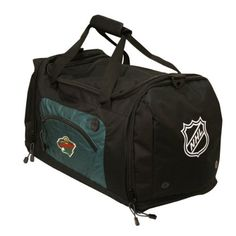 NHL Minnesota Wild Roadblock Duffle Bag by Concept 1. $27.99. The Roadblock is a magnificent bag that offfers space and multiple compartments to fit all of your belongings.  Convenient for the gym, a weekend getaway, or any activity that requires a spacious bag.