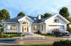 Dom nawiązuje stylistycznie do My House Plans, Simple House Plans, 4 Bedroom House Plans, Minimalist House Design, Modern House Design, House Outside Design, Beautiful House Plans, Bungalow House Design, Dream House Exterior