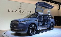 MUST SEE New ' Lincoln Navigator Concept' '' Here are the hottest new Crossovers, SUVs, vans, and everything in between set to go on sale within the next few years. New Trucks, Custom Trucks, Custom Cars, Lincoln Suv, New Lincoln, Top Luxury Cars, Luxury Suv, Maserati, Bugatti