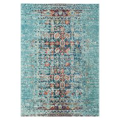 Anchor your living room seating group or define space in the den with this artfully loomed rug, featuring a distressed Persian-inspired motif for eye-catchin...