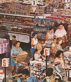 El supermercado de los años sesenta.