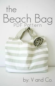 the beach bag PDF pattern by V and Co.