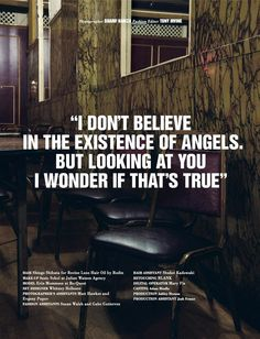 I Don't Believe in the Existence of Angels (10 Men Magazine)