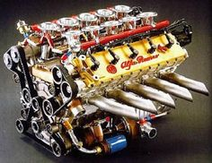 (Beautifully Engineered Alfa Romeo 164 PROCAR 3.5L V10 Engine)