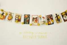 Hello Lidy: Two in one vintage inspired halloween banner