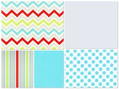Custom Crib Bedding  2 piece Set  aqua red by DandelionBabyblanket, $238.00