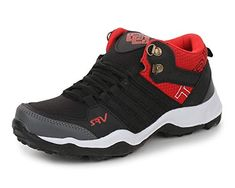 5370f1bb25ab TRASE Boy s Black Synthetic Running Shoes 2C IND UK AGE 8-9 YEARS