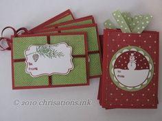 tags til christmas stampin up stamp set | Stampin Up