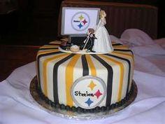 haha steelers wedding cake http://pinterest.com/hamptoninnmonro/ #hamptoninnmonroeville http://www.facebook.com/#!/HamptonInnMonroeville