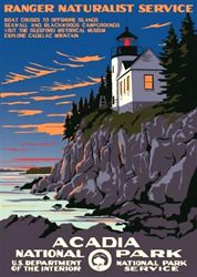 Acadia National Park Vintage Poster (Ranger Naturalist Service Series) in the Discover Your Northwest Online Store