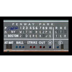 Derek Jeter Signed Green Monster Paying RE2PECT Framed 10x20 Photo - **Pre-Order Will Ship Mid August 2015**Derek Jeter ended his career on September 28th 2014 with a third inning single at Fenway Park. Although it was an emotional day at the stadium one fans Dr. Suess inspired sign summed it up perfectly: Dont cry because its over smile because it happened. Before his last game the Red Sox honored the Captain with a tribute on the Green Monster that thanked him for the memories. Derek Jeter…