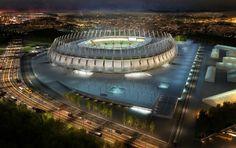 Imagem em 3D da Arena Castelão (Foto: Vigliecca)
