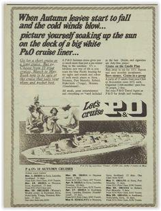 P&O Cruises Magazine Advertisement Ad January 1970 Vintage Retro