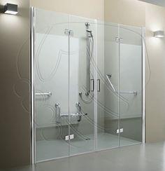 Tda Volo Liberation Two Corner Bi Fold Split Height Shower Enclosure 580 1200mm X 580 1200mm Shower Enclosure Accessible Bathroom Design Corner Shower Enclosures