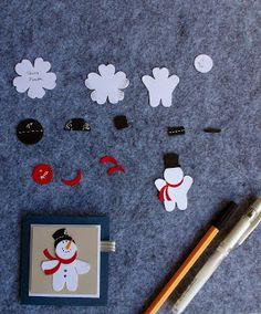 Mein Haus, mein Garten, mein Hobby.: Schneemann mit Blütenstanze Stampin' Up!