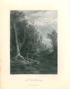 VINTAGE  PRINT OF EARLY PICTURESQUE AMERICA LAKE SUPERIOR 1874