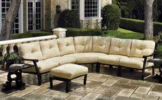 Corona modular deep seating from Gensun Casual Living. Outdoor Seating, Outdoor Rooms, Outdoor Dining, Outdoor Decor, Pool Furniture, Outdoor Furniture Sets, Terrace Design, Deep, Deck Decorating