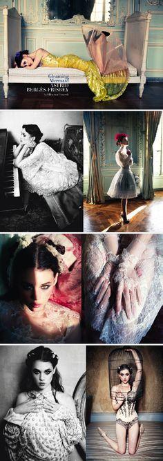 Astrid Berges Frisbey by Ellen Von Unwerth for Vogue Italy | March 2012