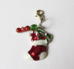 Nikolausstiefel-Anhänger mit Perlen  von soschoen auf DaWanda.com