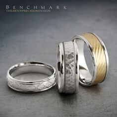 Follow @benchmarkrings to see more content!  #benchmarkretailer # benchmarkwk15  Style #: (L to R) RECF846360W, CF158309W & CF208322.