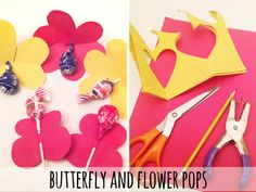 Butterfly and Flower Pops - Valentines Kids Craft