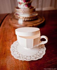 Origami tea cup