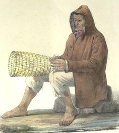 Pescatore, 1839 Gatti e Dura litografia acquarellata