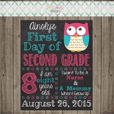 First Day of School Sign - Printable First Day of School Photo Prop
