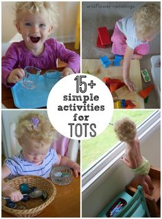 Simple activities that toddlers love! Try these to keep young kids busy and teach early fine motor skills.